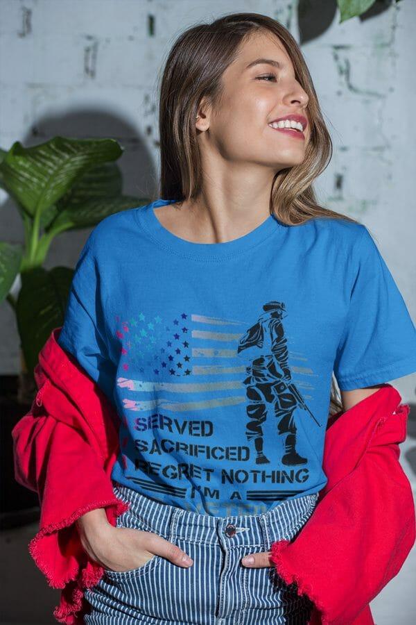 Female-Veteran-Pride-shown-blue-t-shirt-graphic-illustration-Poetic-Pastries-600x900