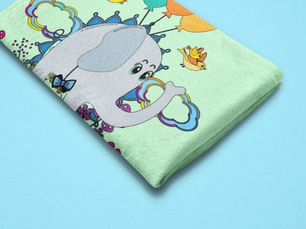 Inspiration-for-DIY-use-of Poetic-Pastries-art-printables-shown-as-towel-personalization