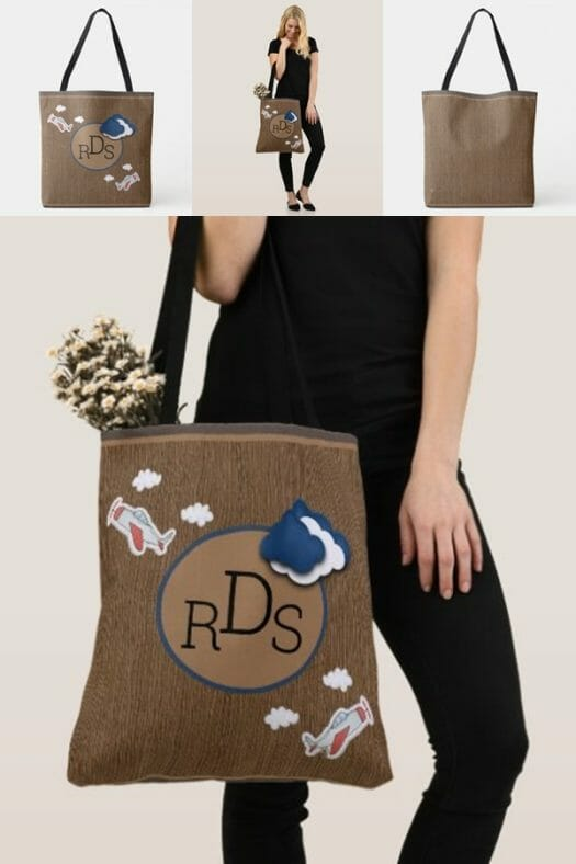 Kawaii-Fly-High-Airplane-Monogram-Tote-Bag-600x900-Blog-product-info-design-by-Poetic-Pastries-Studio-artist-Pansylee-VanMeteren-aka-Muse-place-of-sale-zazzle