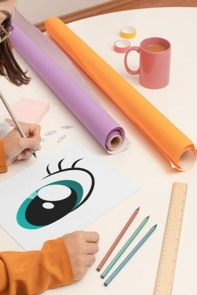 Whimsical-Art-Print-featuring-Eddie-Fly-High-Elephant-by-Poetic-Pastries-Studio-artist-Pansylee-VanMeteren-aka-Muse-shown-eye-large-rendering-pre-cgi-crop