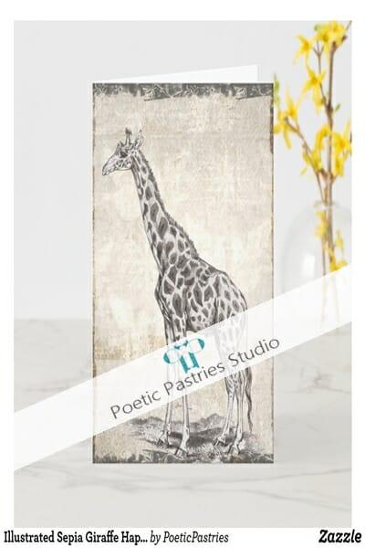 illustrated_sepia_giraffe_happy_birthday_card-rb14be2faf9bf4239809c039b5a014fed_t0wza_1024